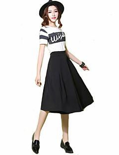 Mulheres Calças Plus Sizes / Moda de Rua Largas Poliéster Sem Elasticidade Mulheres