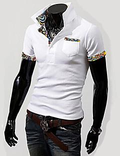 Men's Short Sleeve Polo , Cotton Casual / Work / Formal Print
