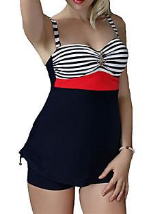 Women's Vintage Stripe One Piece Swimwear