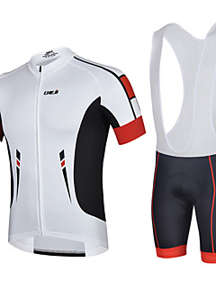 CHEJI® Cycling Jersey with Bib Shorts Men's Short Sleeve Bike Breathable / Quick Dry / Ultraviolet Resistant / 3D Pad / Limits Bacteria