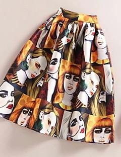 Streetchic Midi Kjolar Kvinnors Oelastisk Polyester