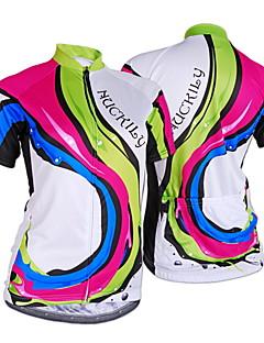 NUCKILY® Cyklodres Dámské Krátké rukávy Jezdit na koleProdyšné / Odolný vůči UV záření / Propustnost vůči vlhkosti / Všitá taška na