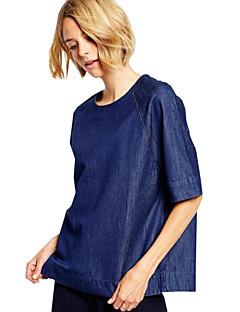 נשים חולצה קז'ואל כותנה