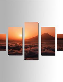 Landschaft Leinwand drucken Fünf Panele Fertig zum Aufhängen,Vertikal