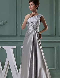 Lanting Ball Gown Mother of the Bride Dress - Silver Floor-length Chiffon