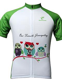 JESOCYCLING® Camisa para Ciclismo Mulheres Manga Curta MotoRespirável / Secagem Rápida / Resistente Raios Ultravioleta / Anti-Estático /