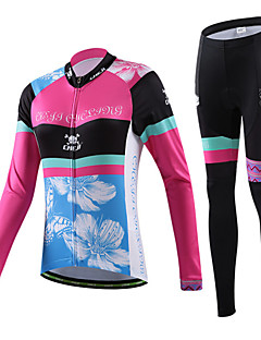 CHEJI® Cycling Jersey with Tights Women's Long Sleeve BikeBreathable / Quick Dry / Ultraviolet Resistant / Lightweight Materials / 3D Pad