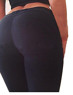 Hardlopen Legging / Kleding Onderlichaam Dames Ademend Yoga / Training&Fitness Sportief Strak Rood / Grijs / Zwart Effen