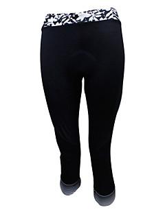 SPAKCT® Cyklo 3/4 čapáky Dámské Prodyšné / 3D Pad / Komprese Jezdit na kole Kalhoty / 3/4 Tights elastan / 100% polyester Klasický