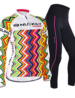 FORIDER® Cycling Jersey with Tights Women's Long Sleeve BikeBreathable / Windproof / Anatomic Design / Moisture Permeability / Front