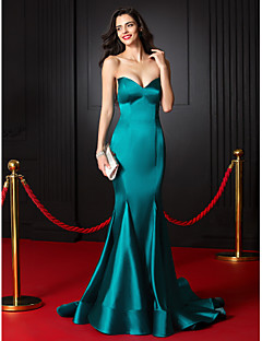 Formal Evening Dress Trumpet/Mermaid Sweetheart Court Train Stretch Satin