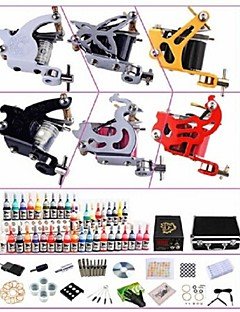 Basekey Professional Tattoo Kit KW06B 6 Machines With Power Supply Grips 40x5ML Ink needles
