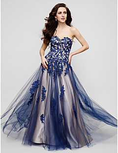 TS Couture® Formal Evening / Black Tie Gala Dress Plus Size / Petite A-line Sweetheart Floor-length Tulle with Appliques / Beading