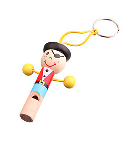 trä färgrik pirat whistle leksaker musikinstrument musik leksaker för barn