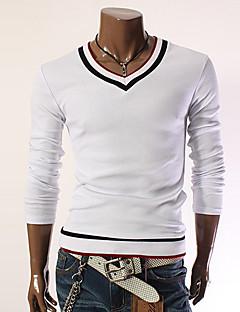 Yoonheel Men's Long Sleeve T-Shirt,Cotton / Polyester Work Pure