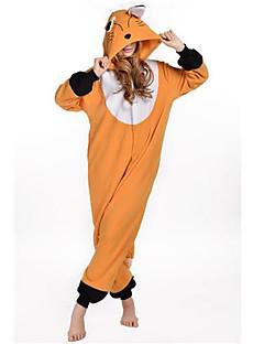 Kigurumi Pyjamas New Cosplay® Ræv Trikot/Heldragtskostumer Festival/Højtider Nattøj Med Dyr Halloween Oransje Patchwork Polarfleece