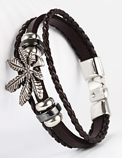 forma PU braccialetto d'acero maschile