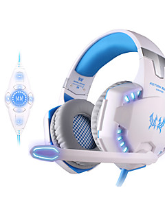 マイク付きkotion各g2200のUSB 7.1サラウンドサウンドの振動ゲームゲームヘッドフォンコンピュータヘッドセットLEDライト