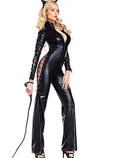 Cosplay Kostüme / Party Kostüme Tier Fest/Feiertage Halloween Kostüme Schwarz einfarbig Gymnastikanzug/EinteilerHalloween / Karneval /