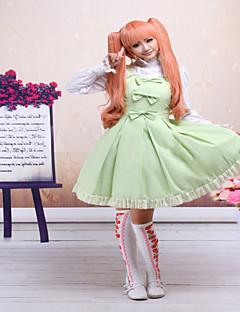 Badpak/Jurken Gothic / Schattig / Klassiek en Tradtioneel Lolita Steampunk® Cosplay Lolita Jurken Licht Groen Effen Mouwloos Korte Lengte