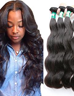 "4 Pcs /Lot 8""-30"" Malaysian Virgin Hair Body Wave Human Hair Wefts 100% Unprocessed Malaysian Remy Hair Weaves"