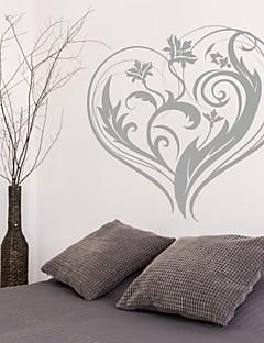 Romantik / Mode / Blumen Wand-Sticker Flugzeug-Wand Sticker,PVC M:42*43cm / L:55*56cm
