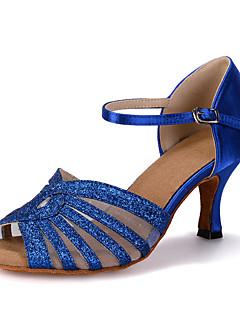 Obyčejné-Dámské-Taneční boty-Břišní / Latina / Jazz / Taneční tenisky / Moderní / Vystupovací / Swing-Satén / Třpytky-Rozšiřující se-