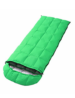 Sleeping Bag Rectangular Bag Single -5--15 Duck Down 1500g 180cmX73cm Camping / Traveling / Outdoor / IndoorMoisture Permeability /