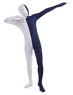 Unisex Multi-Color Zentai Suits Lycra / Spandex White & Blue Zentai