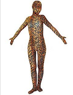 Zentai Suits Ninja Zentai Cosplay Costumes Brown Animal Print Leotard/Onesie / Zentai Lycra / Spandex Unisex Halloween / Christmas