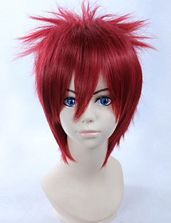 Cosplay Wigs Naruto Gaara Red Short Anime Cosplay Wigs 28 CM Heat Resistant Fiber Male