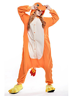 Kigurumi Pajamas New Cosplay® / Dragon Leotard/Onesie Halloween Animal Sleepwear Orange Patchwork Polar Fleece Kigurumi UnisexHalloween /