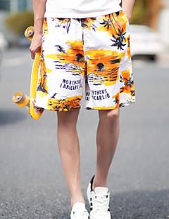 Men's Print Casual / Sport Shorts,Cotton Black