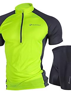 NUCKILY® חולצת ג'רסי ומכנס קצר לרכיבה לנשים / יוניסקס שרוול קצר אופנייםנושם / עמיד / עיצוב אנטומי / עמיד אולטרה סגול / חדירות ללחות /