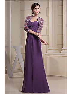 Sheath/Column Mother of the Bride Dress - Floor-length Chiffon