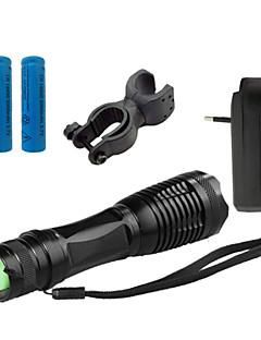 Beleuchtung LED Taschenlampen LED 4000 Lumen 5 Modus Cree XM-L T6 18650 / AAAeinstellbarer Fokus / Wasserdicht / Wiederaufladbar /