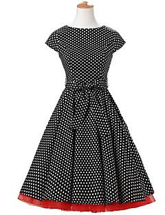 Andere Cosplay Kostüme Schwarz Film Cosplay Kostüme Kleid / Minimantel Baumwolle Frau