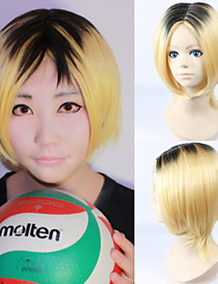 Cosplay Wigs Haikyuu Kozumekenma Black / Golden Short Anime/ Video Games Cosplay Wigs 33 CM Heat Resistant Fiber Male / Female