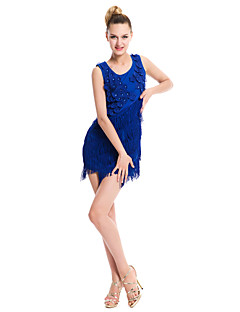 Latin Dance Dresses Women's Performance / Training Milk Fiber Tassel(s) 1 Piece More Colors Available