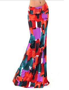מקסי-דק-סגנון-חצאית(כותנה / פוליאסטר)