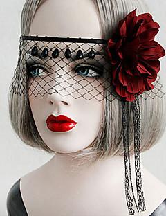 Lolita doplňky Gothic Lolita / Punk Lolita Doplňky do vlasů / Maska Sexy / Elegantní Červená / Černá Lolita Příslušenství Retro Pro Dámské