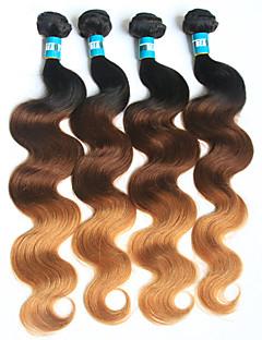 Ombre Brasilianisches Haar Große Wellen 4 Stück Haar webt