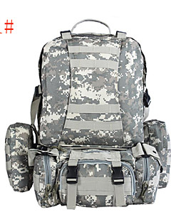Clothin Multifunctional Backpack for Hiking Camping Survival Black Camouflage Khaki Army Green Nylon Oxford