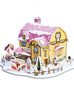 A karácsonyi ajándék intelligens ház édes házikó 3d rejtvényeket (34pcs)