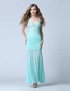 Formal Evening Dress Trumpet/Mermaid V-neck Ankle-length Chiffon