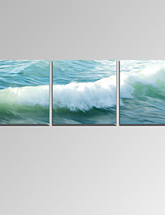 VISUAL STAR®Stretched Ocean Wave Pictures Digital Canvas Prints for Home Decoration Ready to Hang