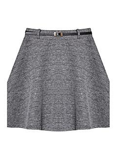 Damen Röcke - Retro / Arbeit Übers Knie Polyester / Elasthan Mikro-elastisch