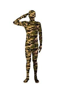 Zentai Suits Ninja Zentai Cosplay Costumes Green Striped Leotard/Onesie / Zentai Lycra / Spandex Unisex Halloween / Christmas