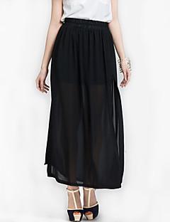 Semester / Strand Maxi Kjolar Kvinnors Oelastisk Polyester