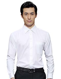 hét Brand® Férfi Állógallér Hosszú ujjú Shirt és blúz Ivory-703A3B5280